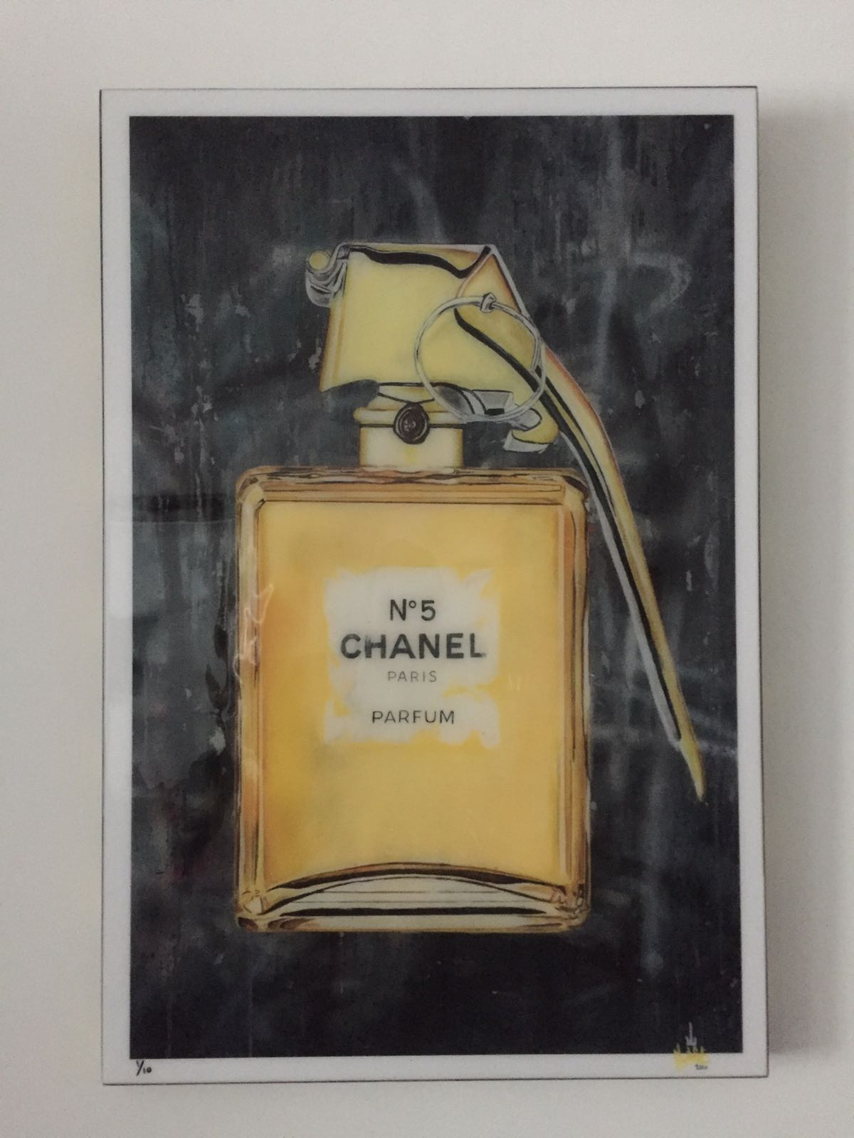 Chanel print on box
